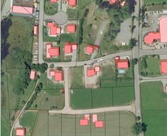 Parzellenkarte eines Baugebiets